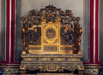 Emperor's Throne Gugong Forbidden City Palace Beijing China