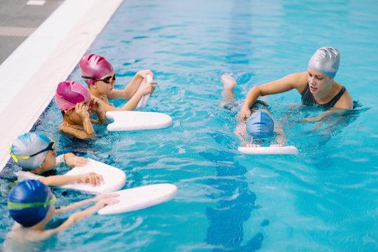 Group swim lesson for children