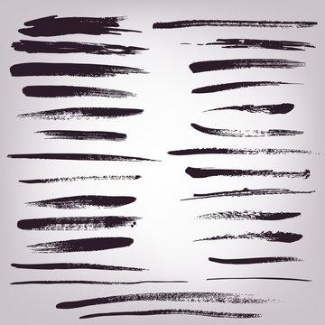 hand drawn set of grunge brush. vector eps 10