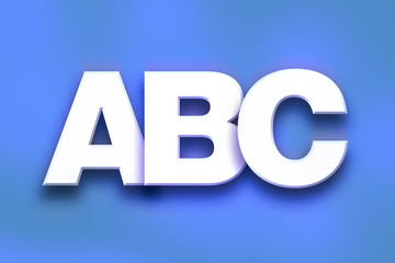 ABC Concept Colorful Word Art