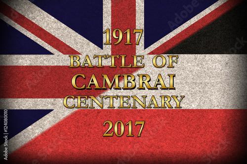 Grunge Style  World War 1 Battle of Cambrai centenary German