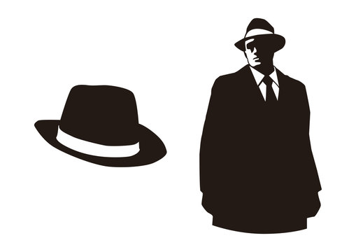 mafia and their hat silhouette design