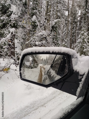 Snowmobile Side Mirrors : Quot snow in side mirror 스톡 사진 로열티프리 이미지 fotolia