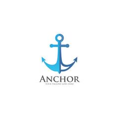 anchor logo icon vector template