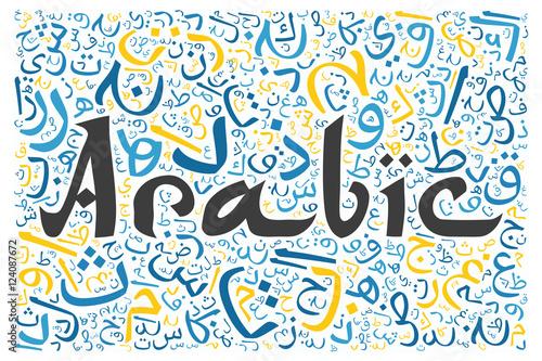 Arabic Alphabet Texture Background Stock Photo And