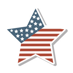 star with usa flag icon vector illustration design