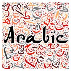 arabic alphabet texture background