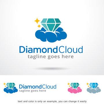 Diamond Cloud Logo Template Design Vector