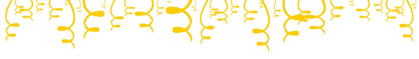 Luftschlangen Band Banner Gelb