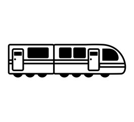 tram transport vehicle isolated icon vector illustration design