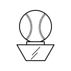 baseball trophy championship isolated icon vector illustration design