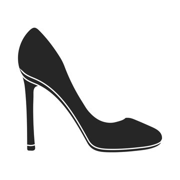 Stiletto icon in  black style isolated on white background. Shoes symbol stock vector illustration.