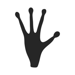 Alien's hand icon in  black style isolated on white background. Space symbol stock vector illustration.