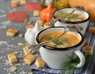 Pumpkin soup puree