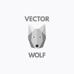Vector wolf symbol