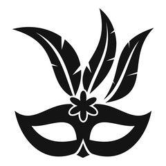 Carnival mask icon. Simple illustration of carnival mask vector icon for web