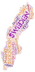 Sweden top travel destinations word cloud