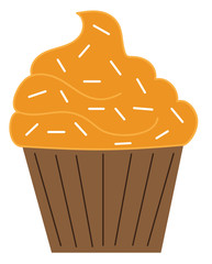 Orange Pumpkin Cupcake