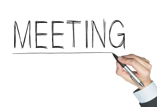 meeting written by hand