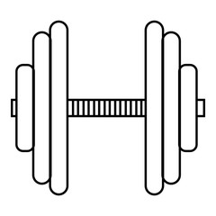 Big dumbbell icon. Outline illustration of big dumbbell vector icon for web