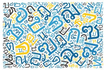 creative Thai alphabet texture background