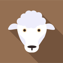 Sheep icon. Flat illustration of sheep vector icon for web