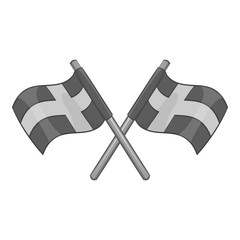 Flag of Sweden icon. Gray monochrome illustration of flag of Sweden vector icon for web
