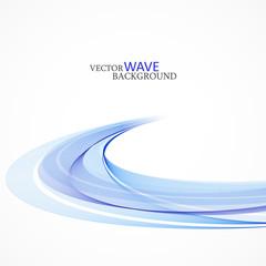 Abstract vector background, blue transparent waved lines for brochure, website, flyer design