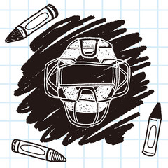 baseball catcher doodle