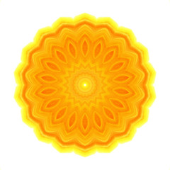 Abstract bright orange concentric pattern