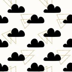 Fototapete - Seamless Clouds Pattern