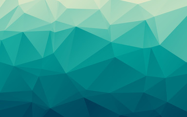 Stylish sea blue vector polygonal abstract background Wall mural