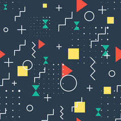 Hipster Abstract Geometric dark Pattern
