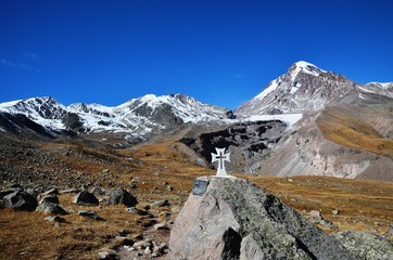White cross and Kazbek