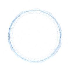 water splash radial 3d rendering 3d illustration