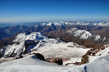 View from Kazbek peak