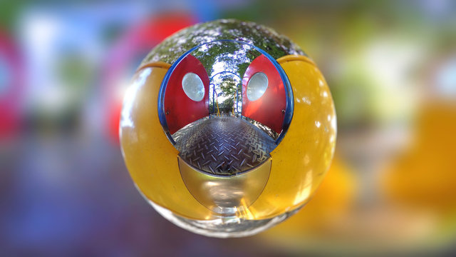 Playground Slide in Sphere like a Character
