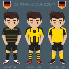Dortmund Soccer Club Kits 2016/17 Bundesliga