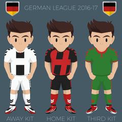 Freiburg im Breisgau Soccer Club Kits 2016/17 Bundesliga