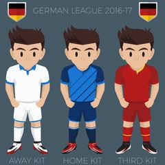 Hoffenheim Soccer Club Kits 2016/17 Bundesliga