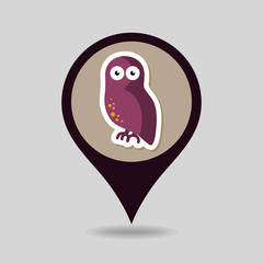 Halloween owl mapping pin icon