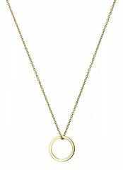 Golden pendant isolated on white