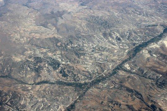 ландшафт с высоты 10000 метров