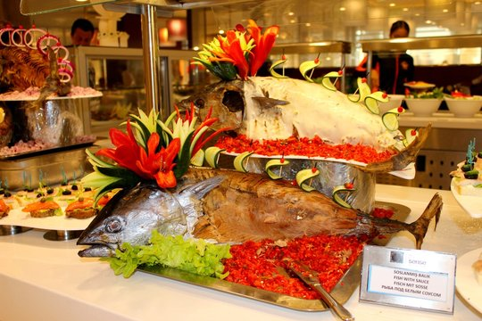 fish on the buffet