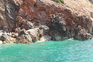 Beautiful sea at the cliffs