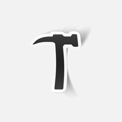 realistic design element: hammer