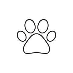 Paw print outline vector