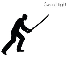 man in swordfight Action pose