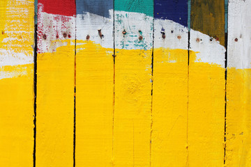 grunge colorful wooden panel background.