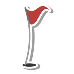 golf flag hole isolated icon vector illustration design